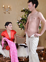 Strapon wearing gal makes up and dresses up her lover for a kinky fuck-fest