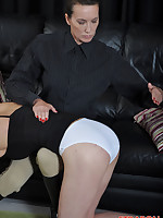 Strapon Jane puts make up on this feminine sissy and then gives her a good fucking