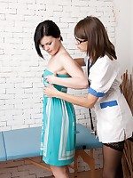 Doctor-patient lesbian sex and medical games